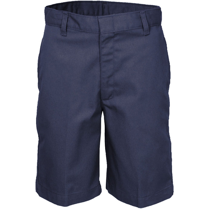 Boy's Flat Front Shorts - Navy