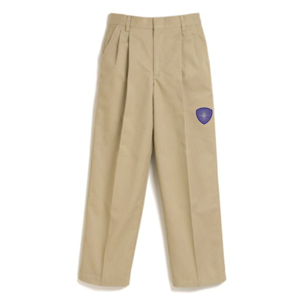 Boys Pleated Pant w/ Desert Christian logo