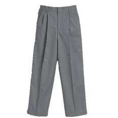 Boy's Pleated Pants - Grey