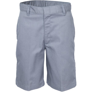 Boy's Flat Front Shorts - Grey (Grades 6-8)