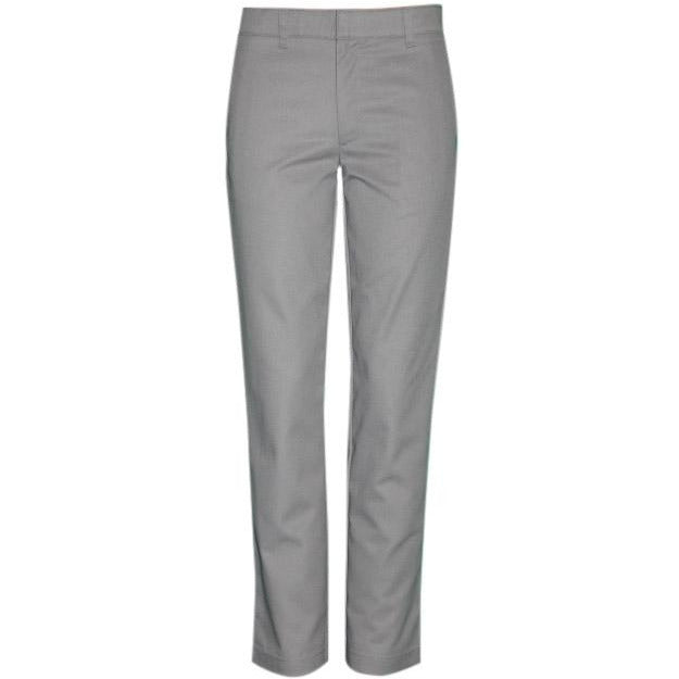 Girl's Flat Front Pants - Grey