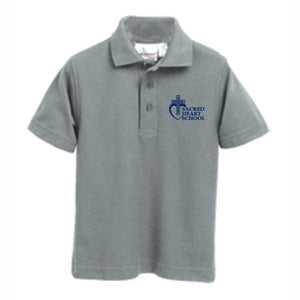 Knit Polo w/Sacred Heart logo