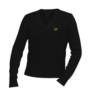 V-Neck Sweater w/ St. John Fisher logo