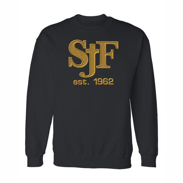 Crewneck Sweatshirt w/ St. John Fisher Tackle Twill logo
