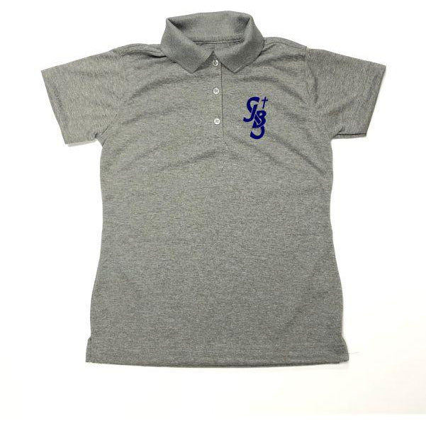 Girls Fitted Dri Fit Polo w/ St. John the Baptist logo