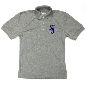 Unisex Dri-Fit Polo w/ St. John the Baptist logo