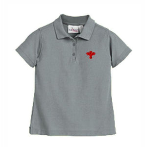 Girls Fitted Knit Polo w/ Palm Valley logo