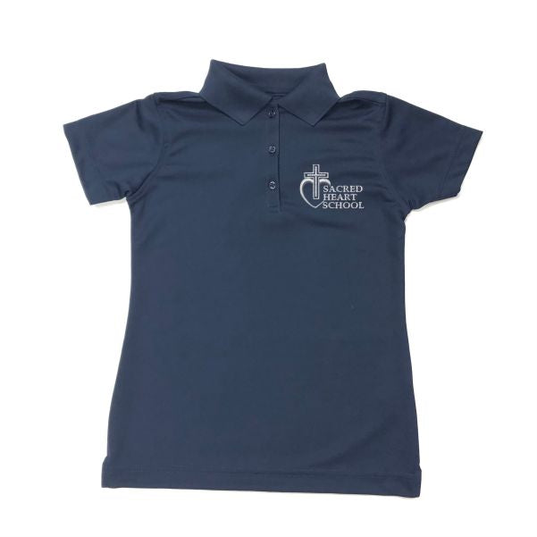 Girls Fitted Dri Fit Polo w/Sacred Heart logo (Preschool)
