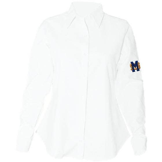 Women's Fitted Long Sleeve Oxford Shirt w/ Mary Star High logo