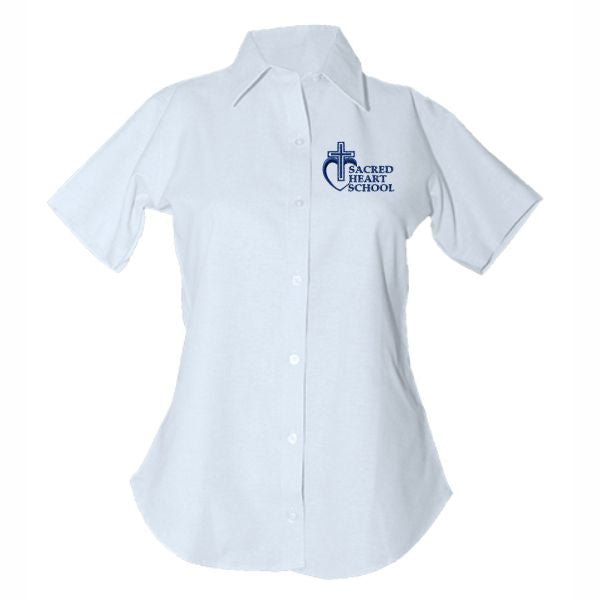 Women's Fitted Oxford Shirt w/ Sacred Heart logo (Grades 5-8)