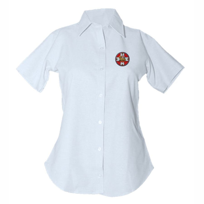 Women's Fitted Oxford Shirt w/Holy Innocents logo