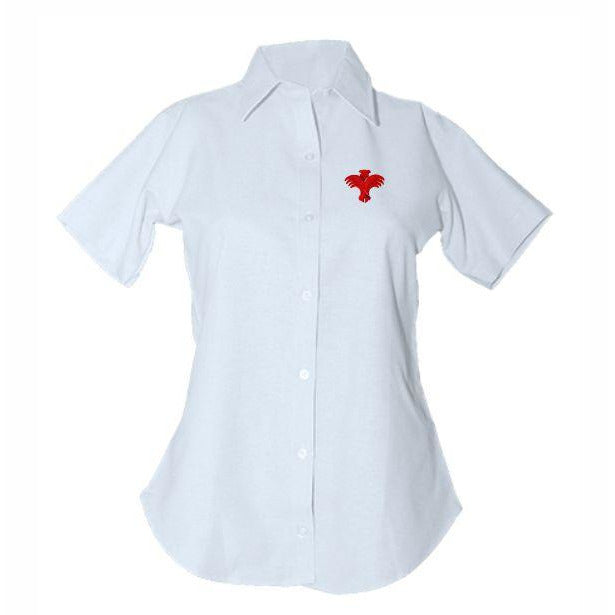 Women's Fitted Oxford Shirt w/ Palm Valley logo