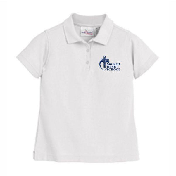 Girls Fitted Knit Polo w/Sacred Heart logo (Preschool)