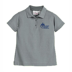 Girls Fitted Knit Polo w/Sacred Heart logo