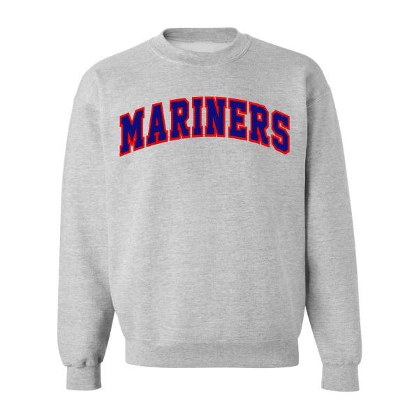Grey Tackle Twill Crewneck Sweatshirt w/ St. Lawrence logo (Grades 6-8)