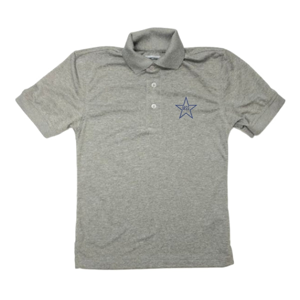Unisex Dri-Fit Polo w/Mary Star Elementary logo
