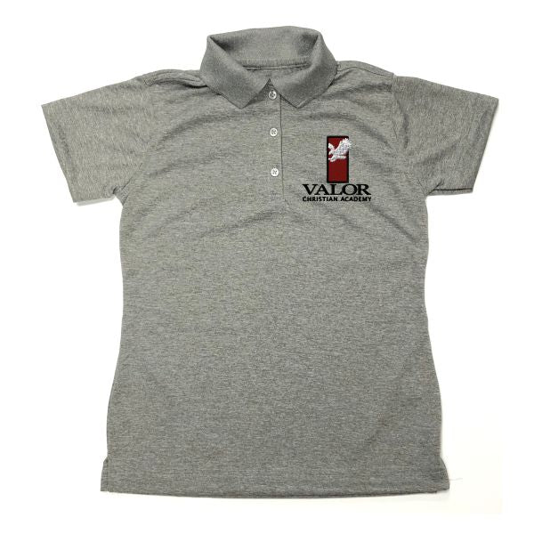 Girls Fitted Dri Fit Polo w/Valor logo