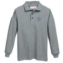 Load image into Gallery viewer, Long Sleeve Knit Polo w/Mary Star Elementary logo