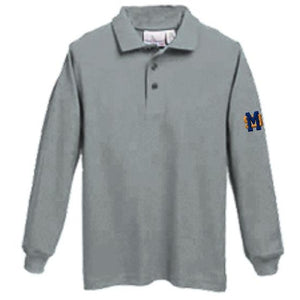 Long Sleeve Knit Polo w/ Mary Star High logo