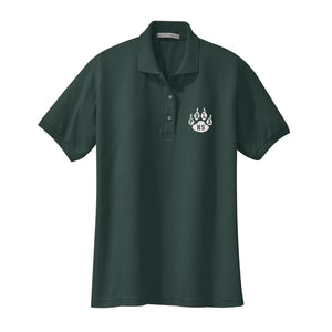 Girls Fitted Knit Polo w/POLA logo