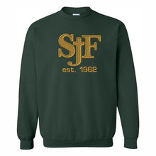 Load image into Gallery viewer, Crewneck Sweatshirt w/ St. John Fisher Tackle Twill logo