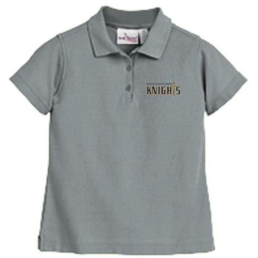 Women's Fitted Knit Polo w/Bishop logo