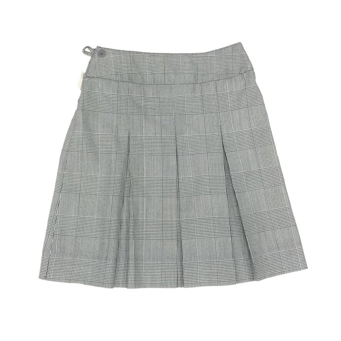 Girls Box Pleat Skirt - Black Plaid (Grades 9-12)