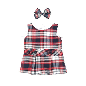 Doll Dress - Holy Trinity Plaid