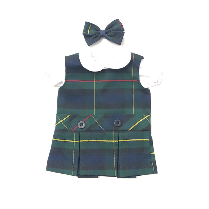 Doll Dress - St. Margaret Mary Plaid