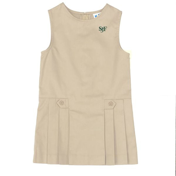 Girl's Jumper - St. John Fisher Khaki (Grades TK & K )