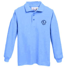 Load image into Gallery viewer, Long Sleeve Knit Polo w/Bethany logo