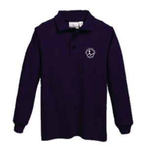 Long Sleeve Knit Polo w/Bethany logo