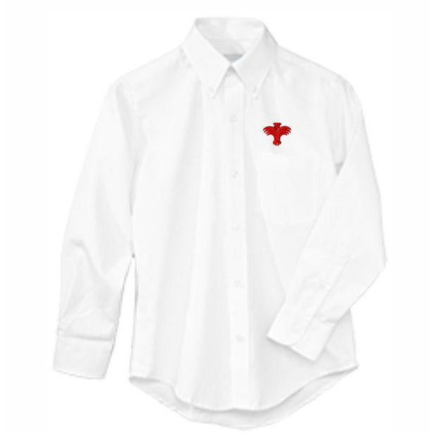 Long Sleeve Oxford Shirt w/ Palm Valley logo