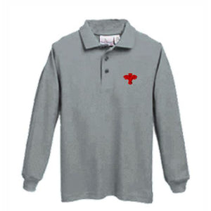 Long Sleeve Knit Polo w/ Palm Valley logo