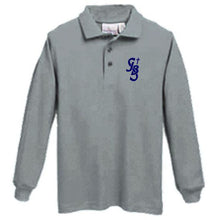 Load image into Gallery viewer, Long Sleeve Knit Polo w/ St. John the Baptist logo
