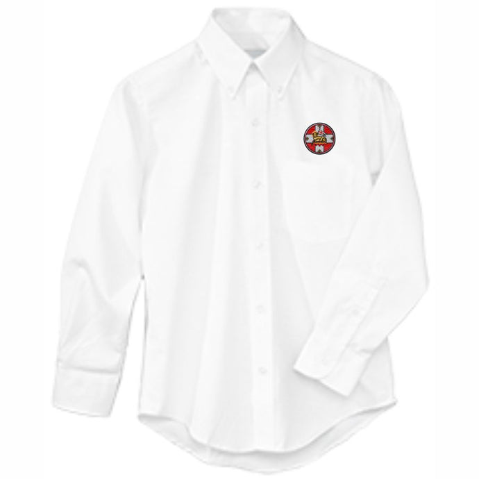 Long Sleeve Oxford Shirt w/Holy Innocents logo