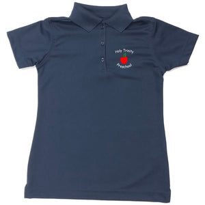 Girls Fitted Drifit Polo w/ Holy Trinity preschool logo