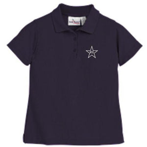 Girls Fitted Knit Polo w/Mary Star Elementary logo