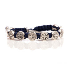 Load image into Gallery viewer, Benedictine Blessing Bracelet - Silver Medals