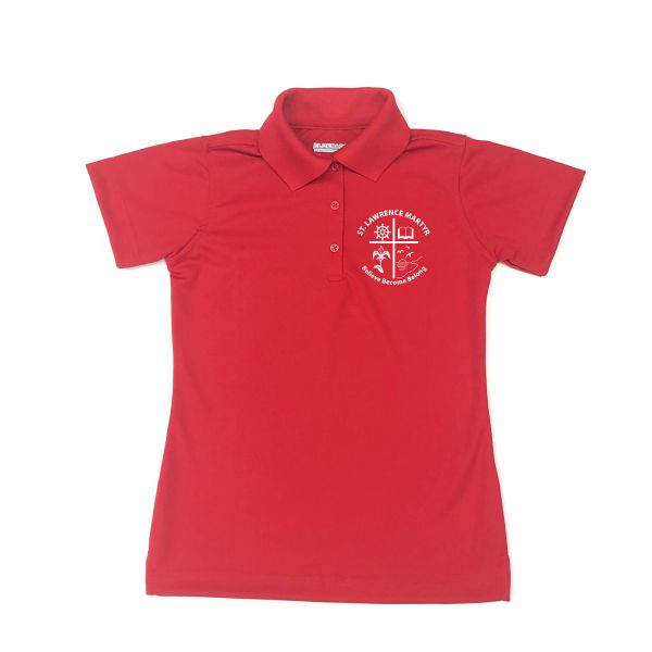 Girls Fitted Dri Fit Polo w/St. Lawrence logo