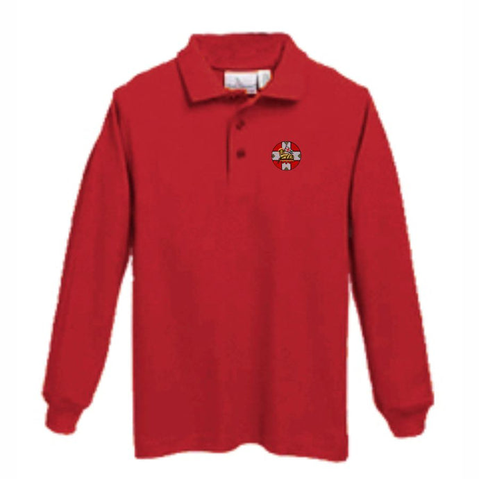 Long sleeve Knit Polo w/HIS logo