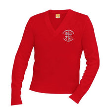 Load image into Gallery viewer, V-Neck Sweater w/St. Lawrence logo