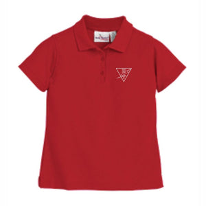 Girls Fitted Knit Polo w/ Holy Trinity logo
