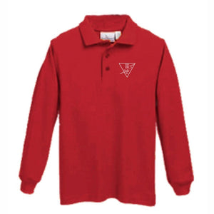 Long Sleeve Knit Polo w/HTS logo