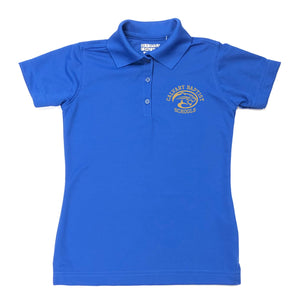 Girl's Fitted Dri Fit Polo w/Calvary embroidered logo