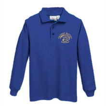 Load image into Gallery viewer, Long Sleeve Knit Polo w/Calvary logo