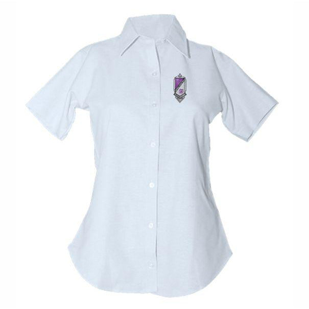 Women's Fitted Oxford Shirt w/ St. Anthony High logo