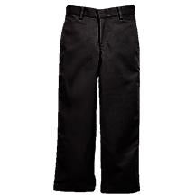 Boy's Flat Front Pants - Black (Grades 6-12)
