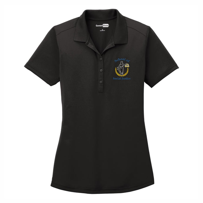Womens 3 Button Dri-fit Polo w/Marquez logo