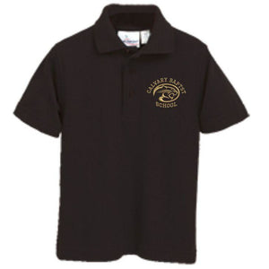 Knit Polo w/CALVARY embroidered logo
